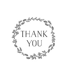Seasonal Thank You Wreath Craft Stamp