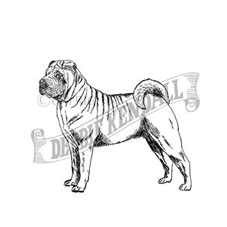 Shar Pei Personalised Stamp