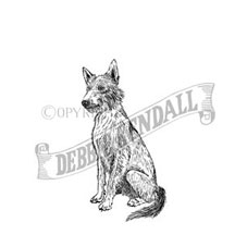 Wire-Haired Podenco Personalised Stamp