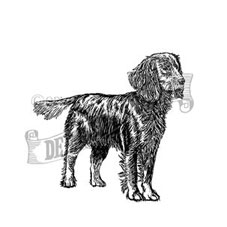 Working Cocker Spaniel Rubber Stamp