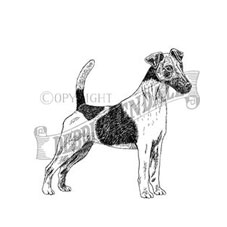 Smooth Fox Terrier Rubber Stamp
