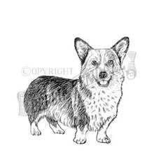 Corgi Rubber Stamp
