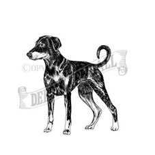 Doberman Rubber Stamp