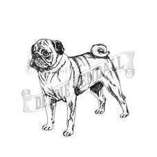 Pug Craft Stamp