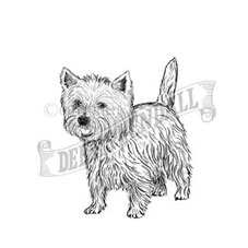 West Highland White Terrier Rubber Stamp