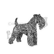 Kerry Blue Terrier Rubber Stamp