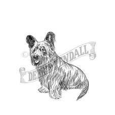 Skye Terrier Personalised Rubber Stamp