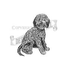 Cavapoo Personalised Stamp