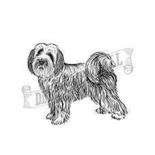 Tibetan Terrier Rubber Stamp