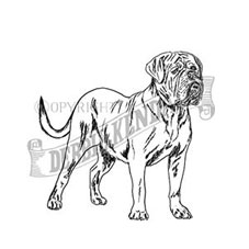Dogue de Bordeaux Rubber Stamp