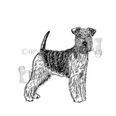 Welsh Terrier Personalised Stamp