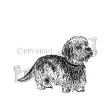 Dandie Dinmont Personalised Stamp