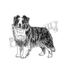 Australian Shepherd Craft Stamp