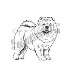Chow Chow Personalised Stamp