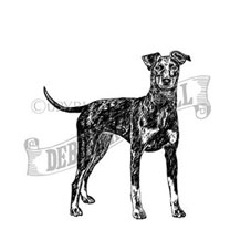 Manchester Terrier Rubber Stamp
