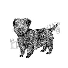 Norfolk Terrier Rubber Stamp