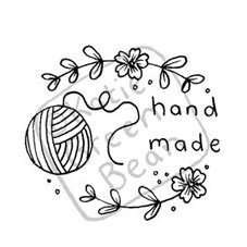 Hand Made Yarn Rubber Stamp