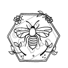 Hexa Bee Craft Stamp
