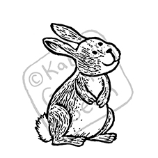 Sonny the Bunny Rubber Stamp