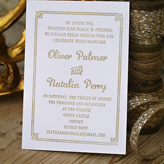 Wedding Border Invitation