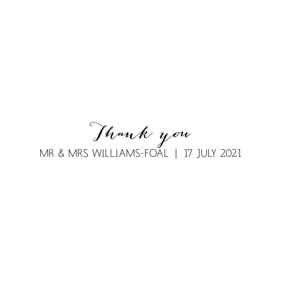 Order Calligraphy Wedding Thank You 2 Stamp