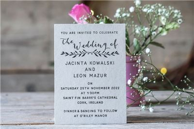 Personalised Invitation Rubber Stamps