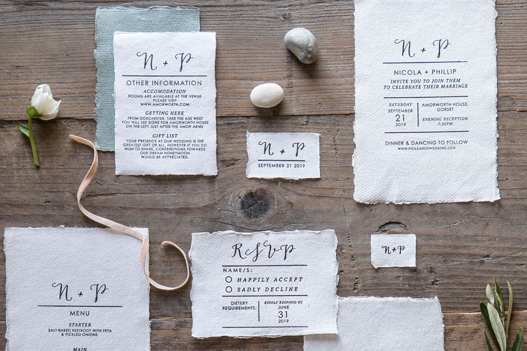 Personalised Wedding Rubber Stamps Collection