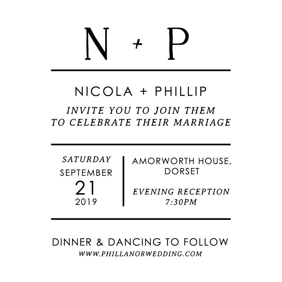 Order Minimalist Wedding Evening Invitation
