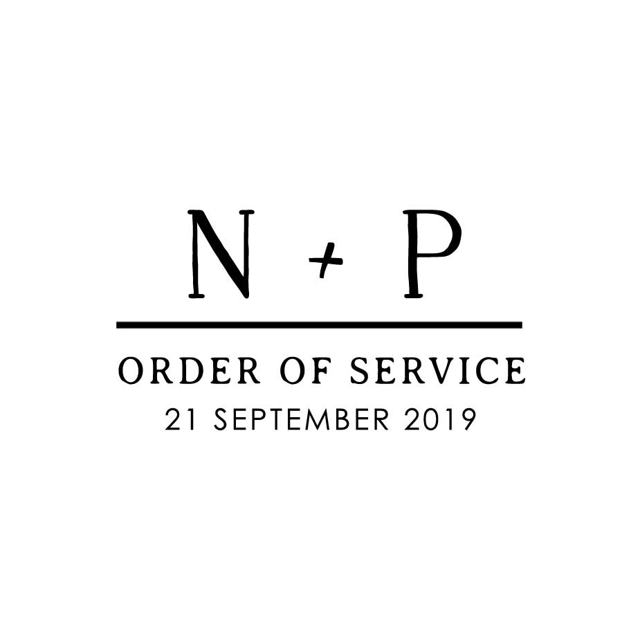 You can order this Minimalist Wedding Order of Service