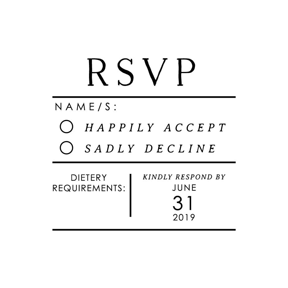 Order Minimalist Wedding RSVP