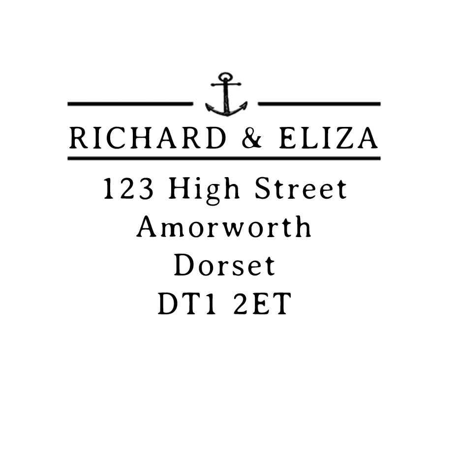 You can order this Nautical Address Stamp