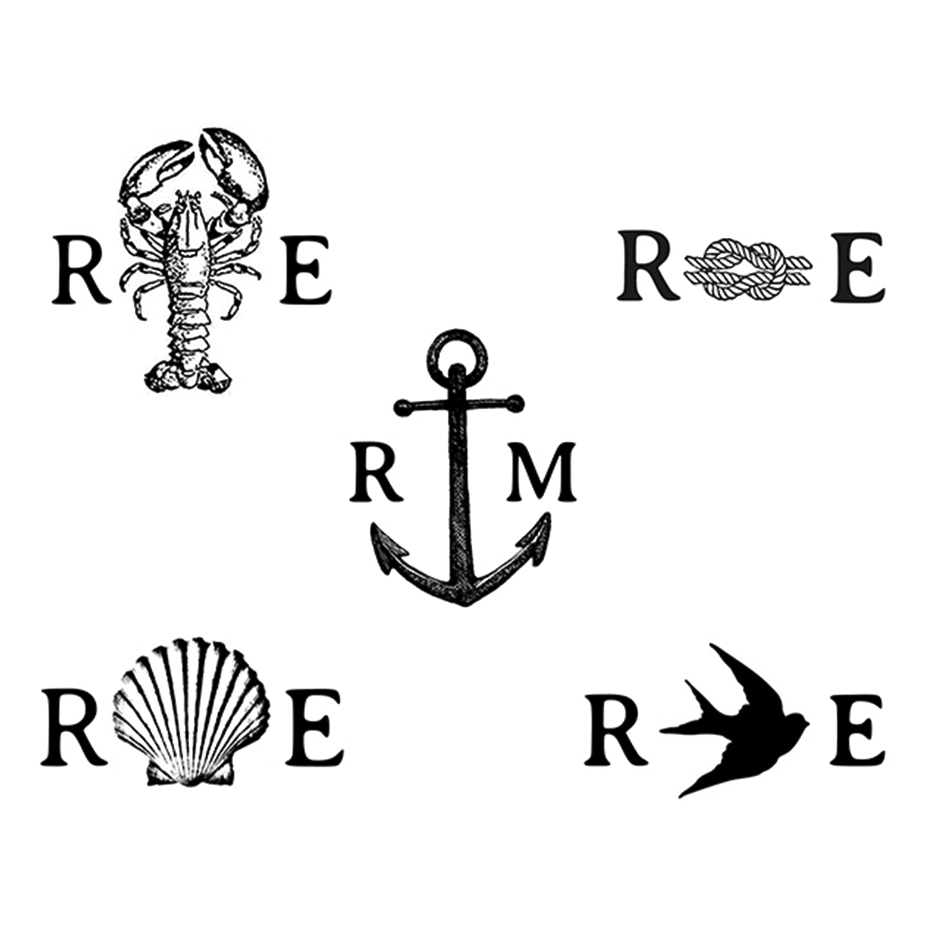 You can order this Nautical Wedding Monogram Stamp