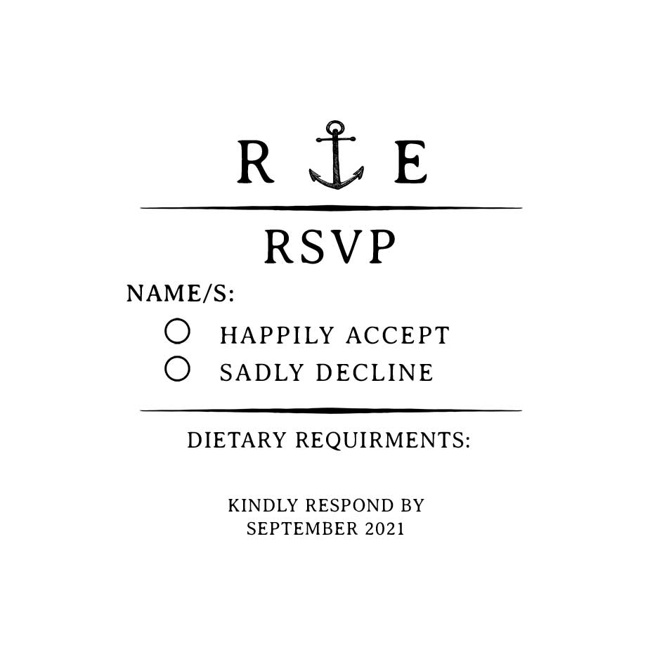 You can order this Nautical Wedding RSVP Stamp