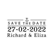 Nautical Wedding Save the Date 1