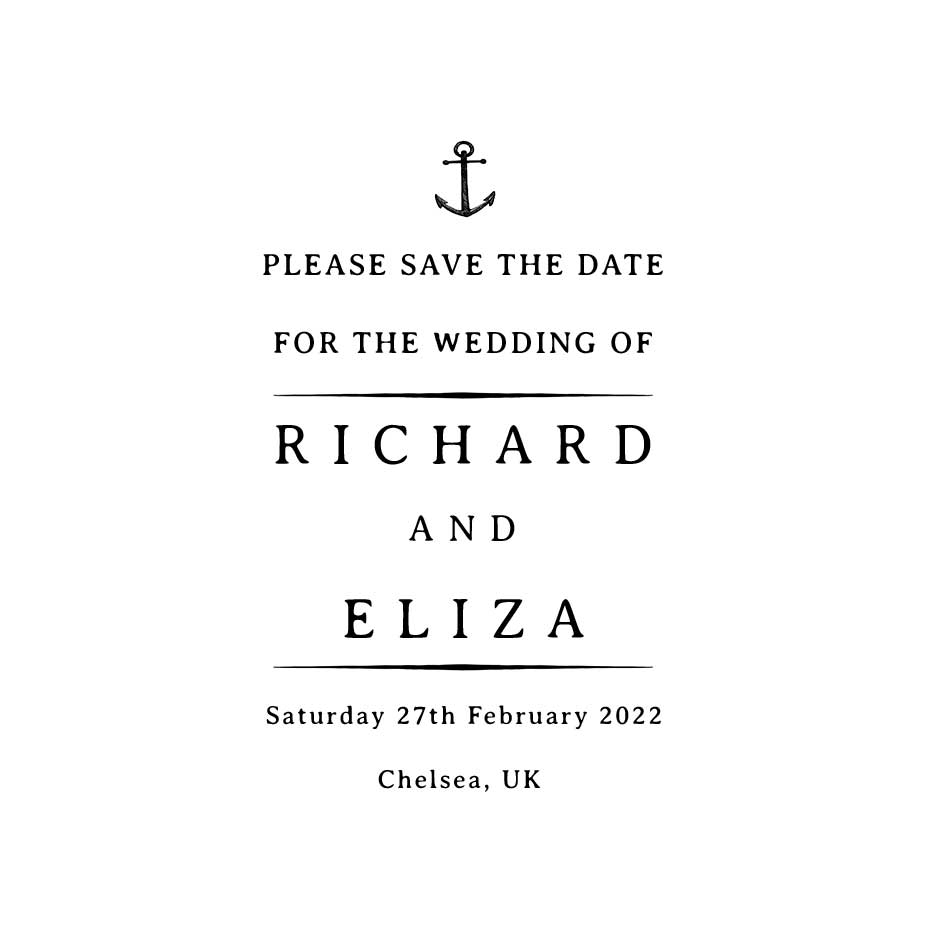 You can order this Nautical Wedding Save the Date 2
