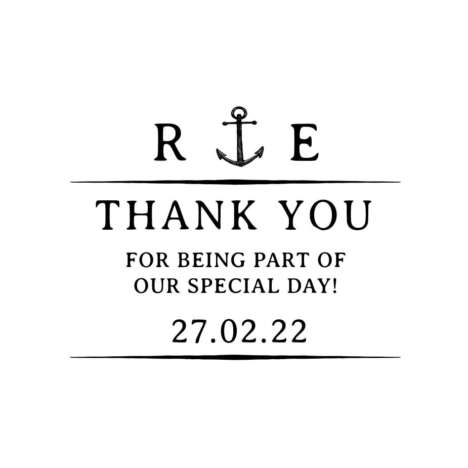 You can order this Nautical Wedding Thank You Stamp
