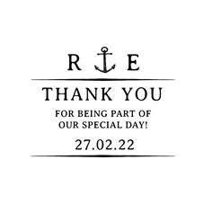 Nautical Wedding Thank You Stamp