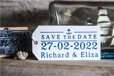 Personalised Saved The Date Rubber Stamps