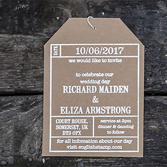 Ticket Wedding Invitation Stamp