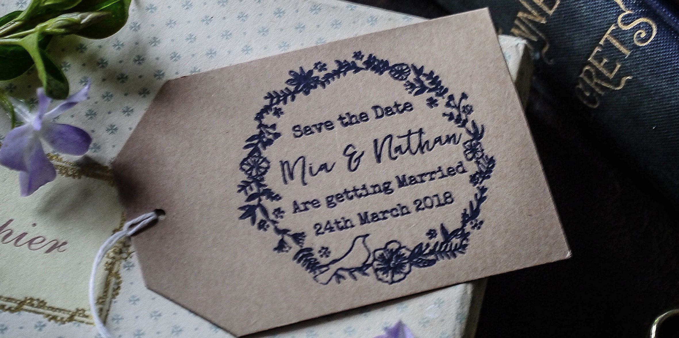 Personalised Wedding Rubber Stamps