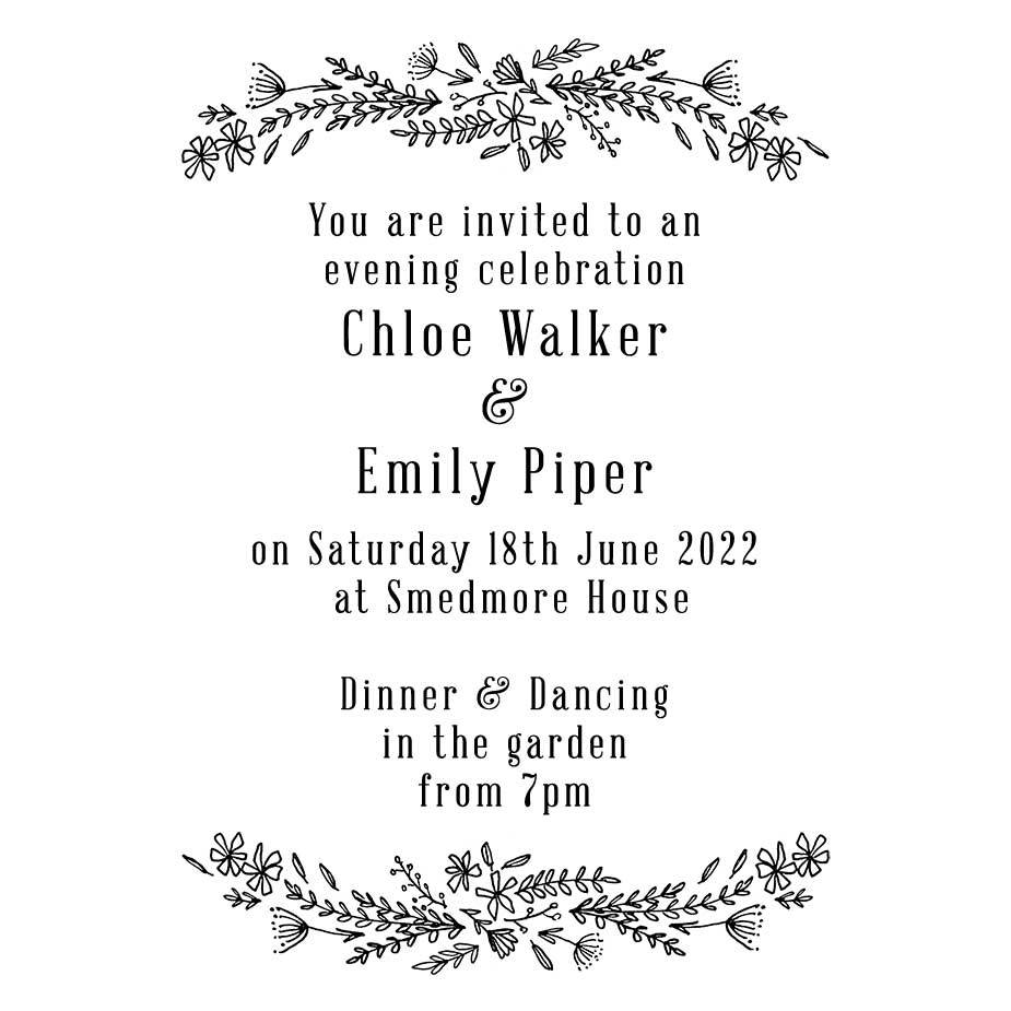 Order Wildflower Wedding Evening Invitation Stamp