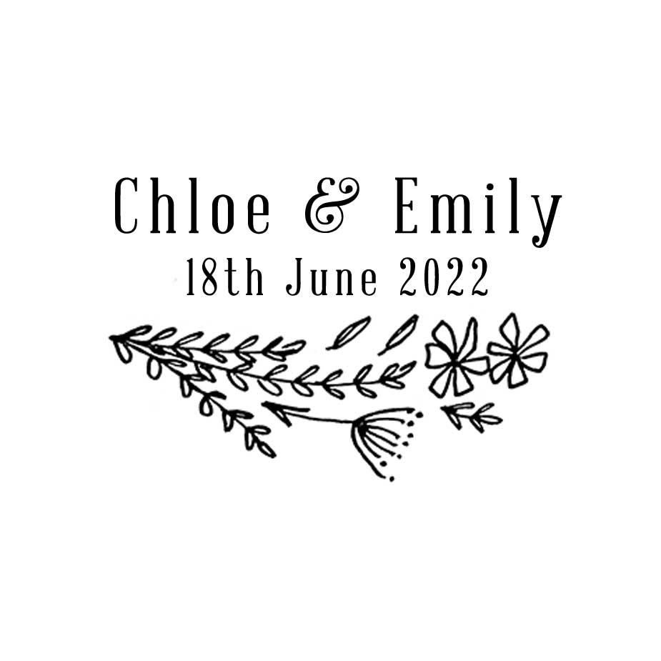 Order Wildflower Wedding Favour Stamp