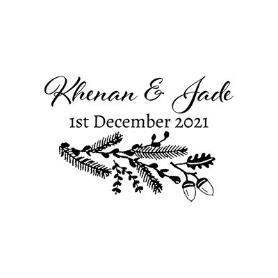 You can order this Winter Wedding Favour Stamp