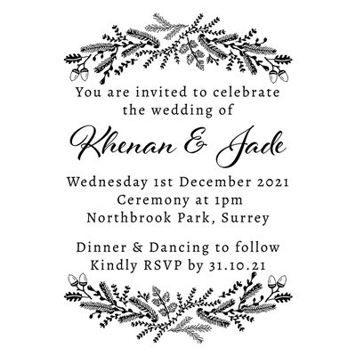 You can order this Winter Wedding Invitation Stamp