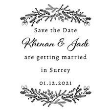 Winter Wedding Save the Date Stamp