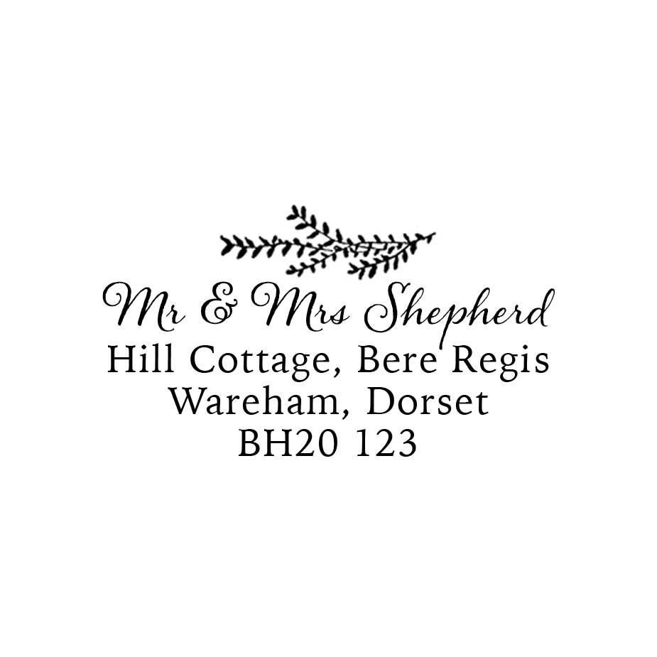 You can order this Willow Address Stamp