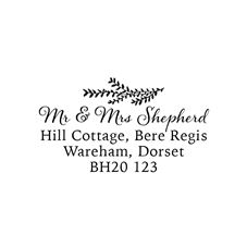 Willow Address Stamp Personalised Stamp