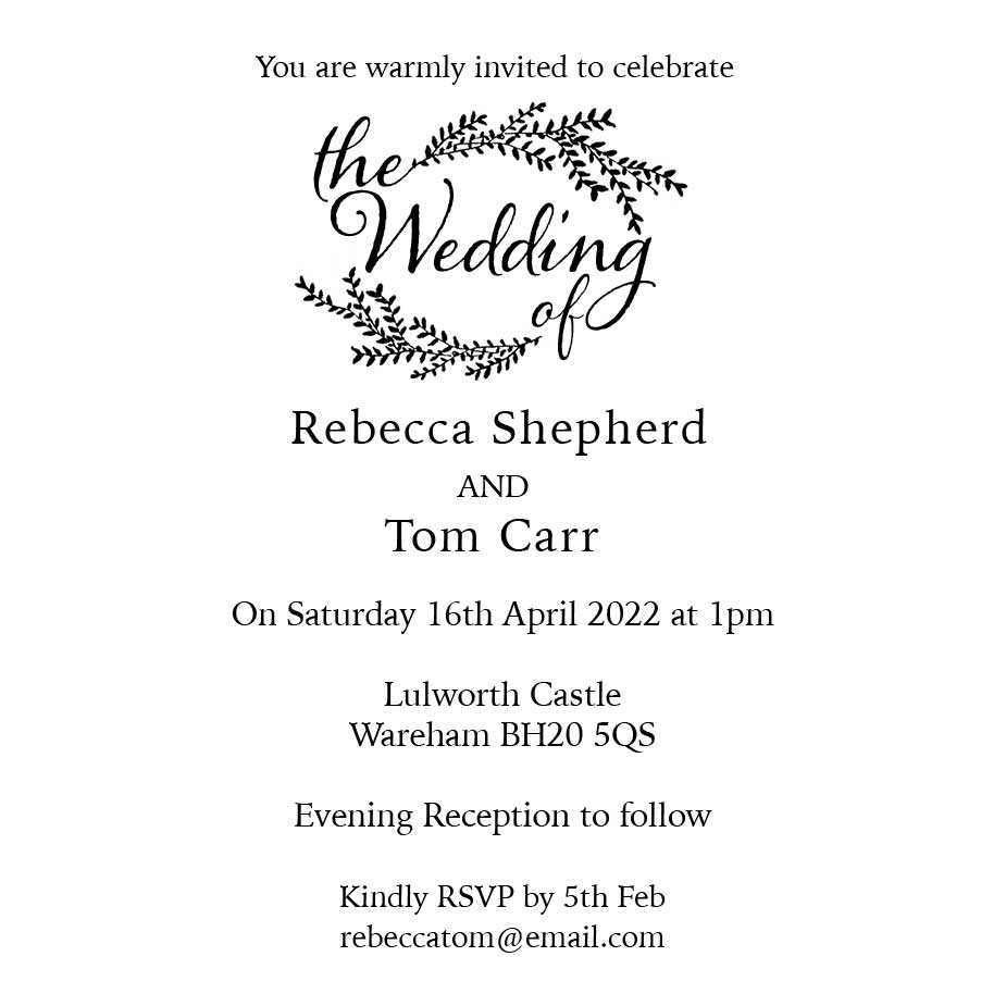 Order Willow Wedding Invitation Stamp