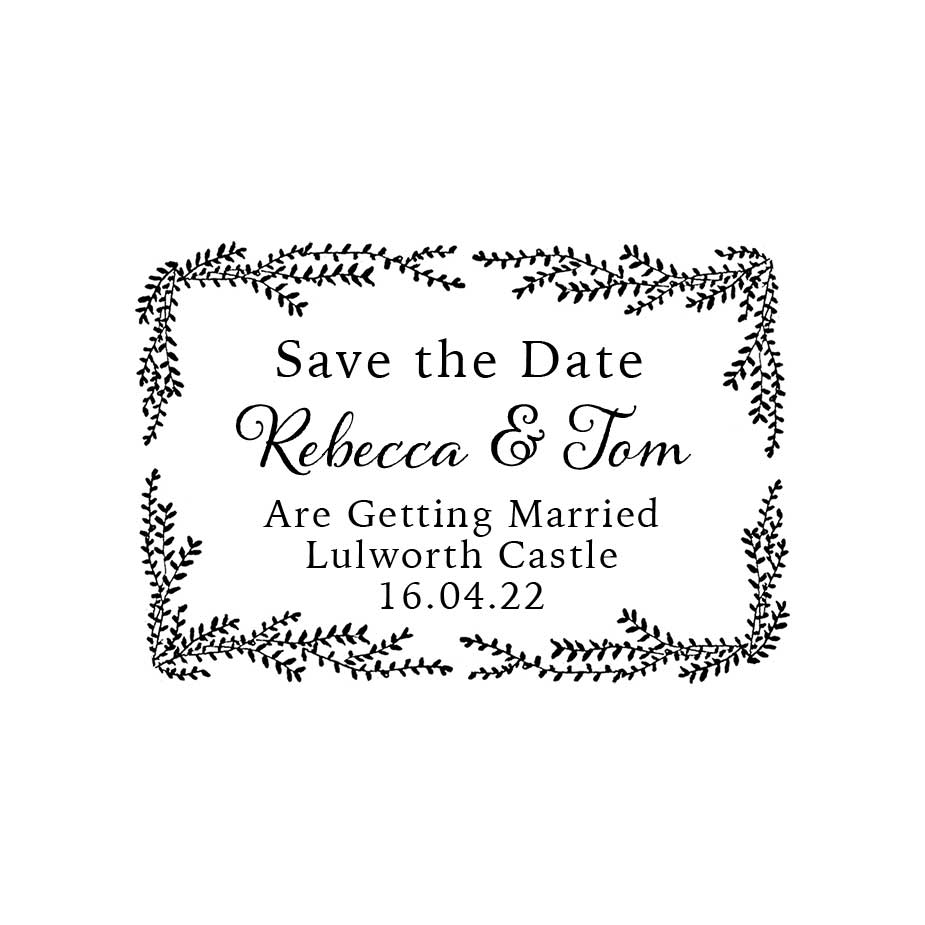 Order Willow Wedding Save the Date Stamp